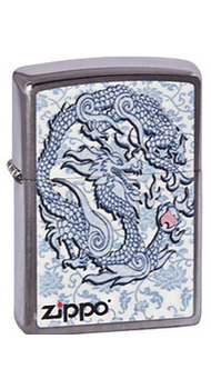 Зажигалка Zippo Dragon Reg Brush Chrome 200.593