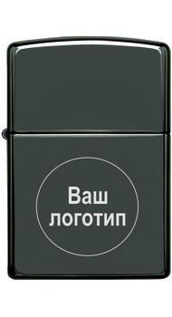 Зажигалка Zippo BLACK ICE 150 с гравировкой (логотип)