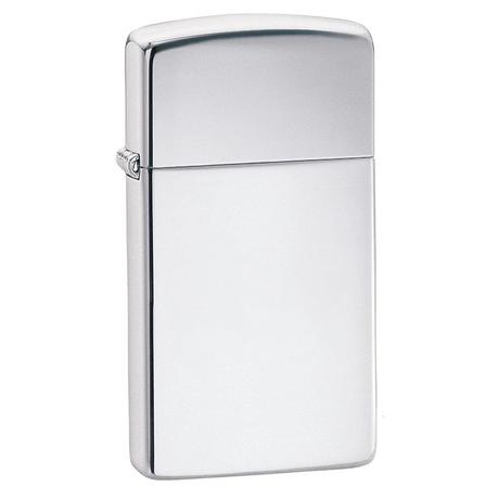 Зажигалка Zippo узкая HIGH POLISH CHROME 1610