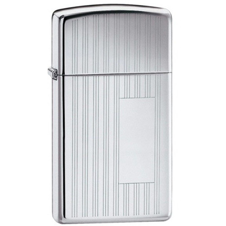 Зажигалка Zippo узкая RIBBON HIGH POLISH CHROME 1615