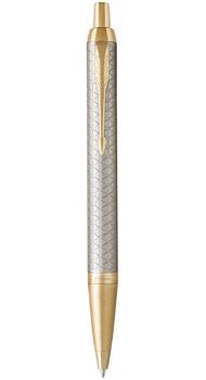 Шариковая ручка Parker IM 17 Premium Warm Silver GT BP 24 132