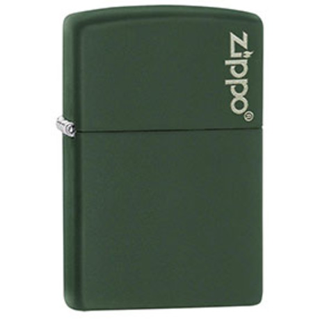 Зажигалка Zippo 221 GREEN MATTE ZIPPO LOGO 221ZL