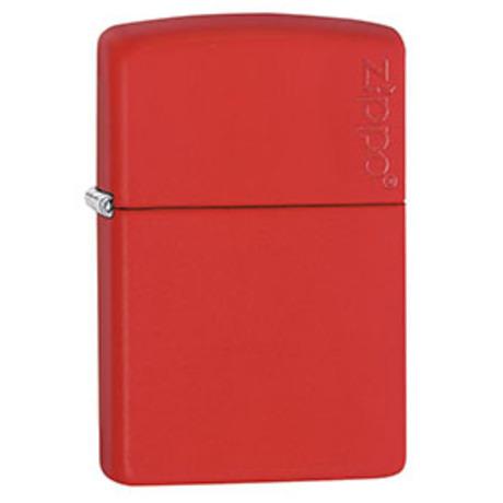 Зажигалка Zippo 233 RED MATTE w/ZIPPO LOGO 233 ZL