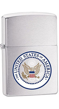 Зажигалка Zippo U.S. SEAL HIGH BRUSHED CHROME 24347