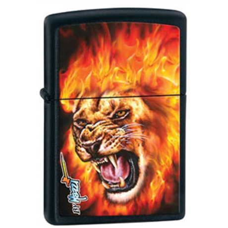 Зажигалка Zippo 218 MAZZI-FLAME LION 28003