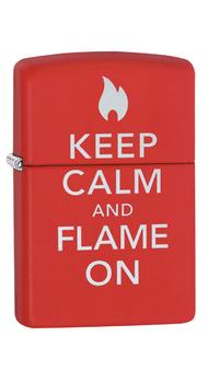 Зажигалка Zippo Keep Calm Flame on 28671