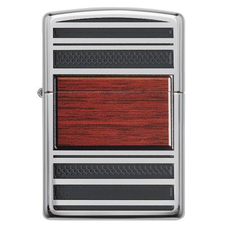 Зажигалка Zippo Steel And Wood 28676