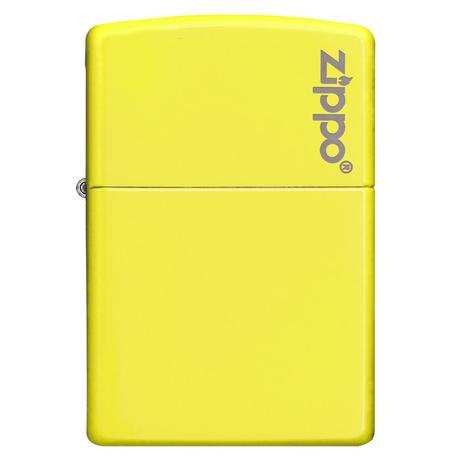 Зажигалка Zippo Reg Neon Yellow Lighter logo 28887ZL