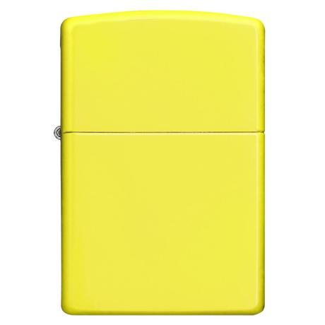 Зажигалка Zippo Reg Neon Yellow Lighter 28887