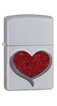 Зажигалка Zippo 205 Glitter Heart 29410