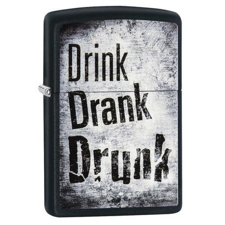 Зажигалка Zippo 218 Drink Drank Drunk Design 29618