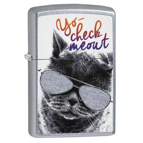 Зажигалка Zippo 207 Cat With Glasses Design 29619