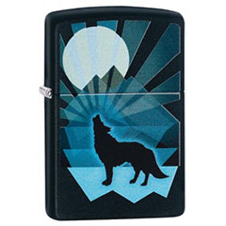 Зажигалка ZIPPO 218 Wolf And Moon Design 29864