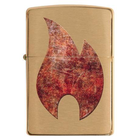 Зажигалка ZIPPO 204B Rusty Flame Design 29878