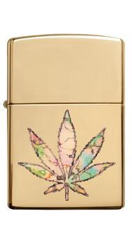 Зажигалка Zippo 254B Pot Leaf Fusion Design 49240