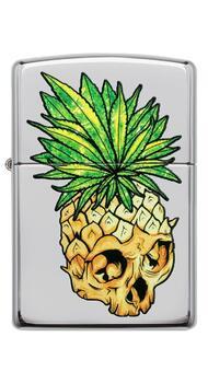 Зажигалка Zippo 250 Leaf Skull Pineapple 49241
