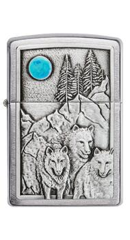 Зажигалка Zippo 200 Wolf & Pack Emblem 49295