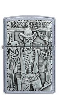 Зажигалка Zippo 207 Saloon Skull Emblem 49298