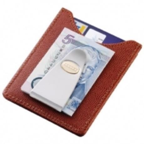 Кредитница-зажим для денег Dalvey коричневая кожа D00413