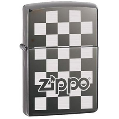 Зажигалка Zippo CHECKERBOARD BLACK ICE 324678