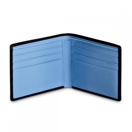 Портмоне Dalvey гор. с отд. на 6 кр.карт черн.голуб.  93x112x13мм D00898