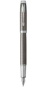 Ручка перьевая Parker IM 17 Premium Dark Espresso Chiselled CT FP F 24 311