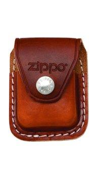 Чехол для зажигалки Zippo коричневый с клипсой LPCB