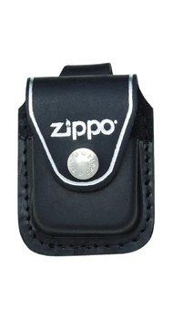 Чехол для зажигалки Zippo черный с петелькой на кнопке LPLBK