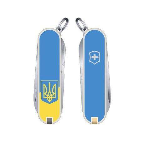 Складной нож Victorinox CLASSIC SD UKRAINE 58мм 7 предметов желто-голубой Vx06223.7R3