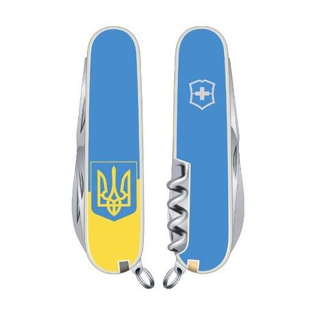 Складной нож Victorinox CLIMBER UKRAINE 91мм 14 предметов голубой Vx13703.7R3
