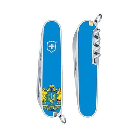 Складной нож Victorinox HUNTSMAN UKRAINE 91мм 15 предметов голубой Vx13713.7R6