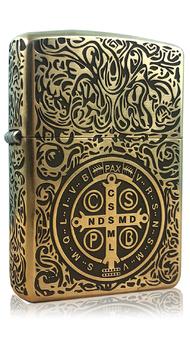 Кастомизированная зажигалка Zippo Constantine St. Benedict