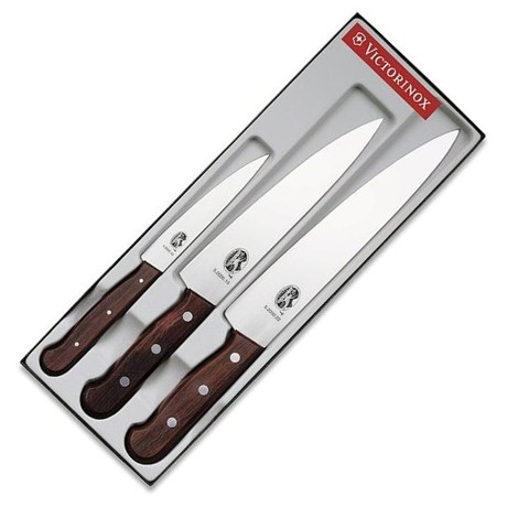 Набор кухонный Victorinox Wood Carving Set 3 ножа с дерев. ручкой (12,19,22см) Vx51050.3