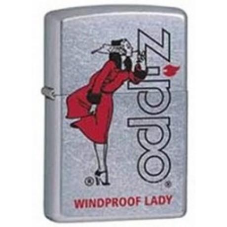 Зажигалка Zippo Классическая бензиновая ветрозащищённая зажигалка Zippo 207 ZIPPO RED AND CHROME 28465.