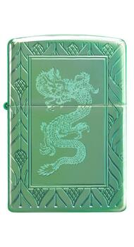 Зажигалка Zippo Armor High Polish Green Elegant Dragon 49054