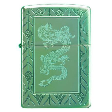 Зажигалка Zippo Armor High Polish Green Elegant Dragon 49054