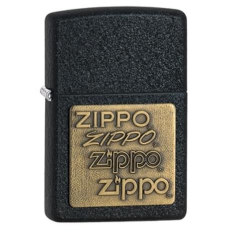 Зажигалка Zippo BRASS EMBLEM BLACK CRACKLE 362
