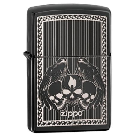 """Зажигалка Zippo """"Iced Skulls"""" 28678"""