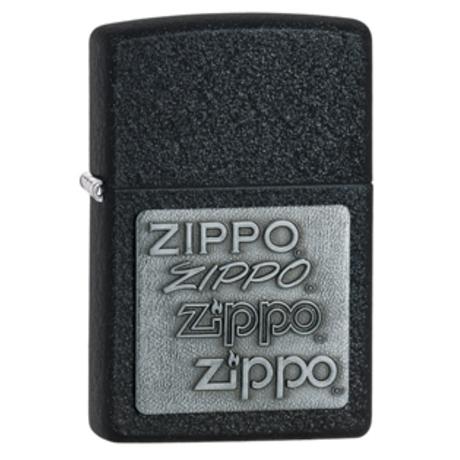 Зажигалка Zippo PEWTER EMBLEM BLACK CRACKLE 363