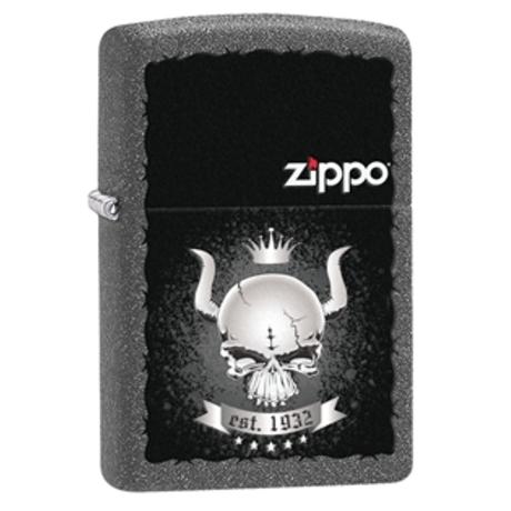 """Зажигалка Zippo """"Skull Crown 1932"""" 28660"""