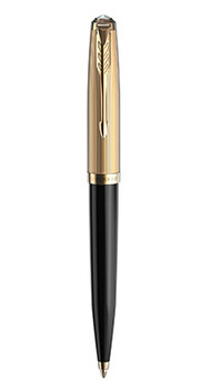 Шариковая ручка Parker 51 DELUXE BLACK GT BP 57 032