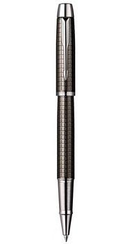 Ручка роллер Parker IM Premium Dark Gun Metal Chiselled  RB в подар.уп.PXMAS19 20 422Db19