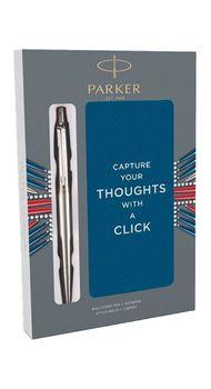Набор Parker JOTTER 17  SS CT  BP ручка + блокнот в подар.упаковке XMAS18 16 132b18