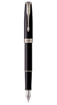 Перьевая ручка Parker SONNET 17 Black Lacquer CT FP F 86 115