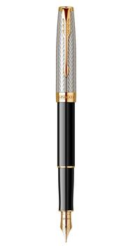 Перьевая ручка Parker Sonnet Fougere Black Silver GT Special Edition 88 511