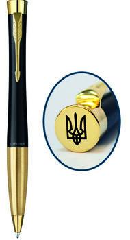 Шариковая ручка Parker URBAN 17 Muted Black GT BP Трезубец на торце 30 035_TR