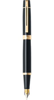 Перьевая ручка Sheaffer Gift Collection 300 Glossy Black GT FP Sh932504