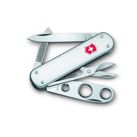 CIGAR CUTTER 74мм 1сл 5 предметов сереб чехол ножн пробойник Vx06580.16