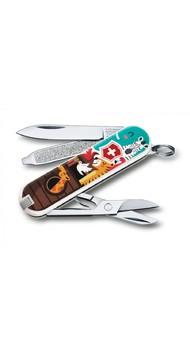 CLASSIC LE 58мм 1сл 7 предметов цветн чехол ножн Vx06223.L1703