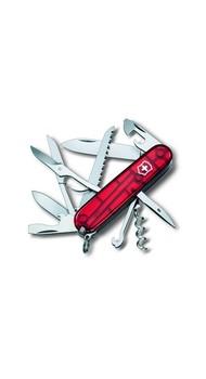 Складной нож Victorinox HUNTSMAN 91мм 15 предметов Прозрачный красный Vx13713.T